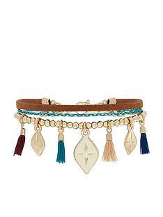 accessorize-nomad-charmy-friendship-bracelet-multi