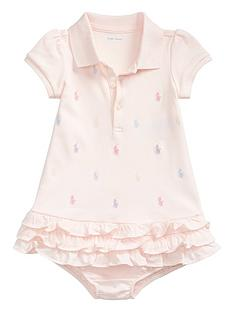 7706c4183 Ralph Lauren Ralph Lauren Baby Girls Pony Print Polo Ruffle Dress