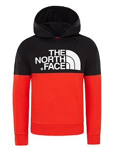 the-north-face-boys-drew-peak-hoodienbsp--redblack