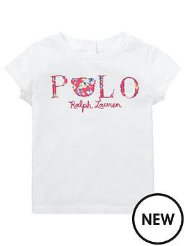 f6a57b94 Ralph Lauren Baby Girls Short Sleeve Polo T-shirt - White ...