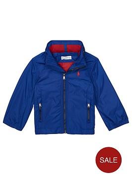 3cd3db7f9 Ralph Lauren Baby Boys Lightweight Hooded Jacket - Bright Blue ...