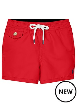 24dd427b1 Ralph Lauren Baby Boys Classic Swim Shorts - Red | littlewoodsireland.ie
