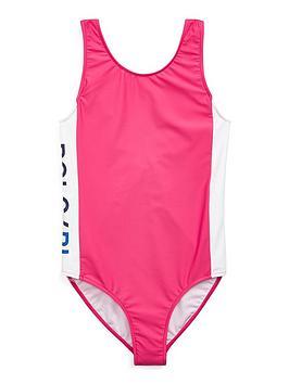 539a39629bd Ralph Lauren Girls Polo Sport Swimsuit | littlewoodsireland.ie