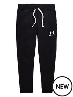 under-armour-boys-cotton-fleece-joggers-blackwhite