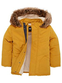 v-by-very-boys-borg-lined-faux-fur-trim-hooded-coat-mustard
