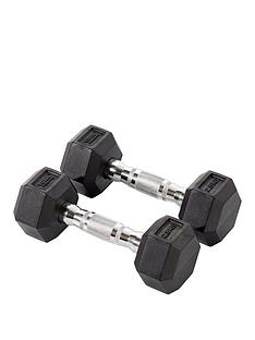 york-rubber-hex-dumbbell-pair-2-x-25kg
