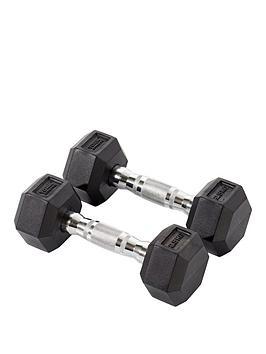 york-rubber-hex-dumbbell-pair-2-x-25kg