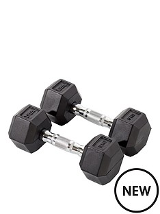 york-rubber-hex-dumbbell-pair-2-x-5kg