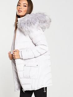 v-by-very-multi-seam-padded-coat-with-faux-fur-trim-pale-grey