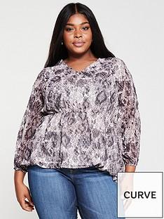 v-by-very-curve-v-neck-blouse--nbspsnakeprint