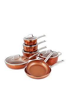 tower-forged-7-piece-pan-set-ndash-copper