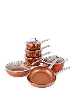 tower-forged-7-piece-pan-set-ndash-copper
