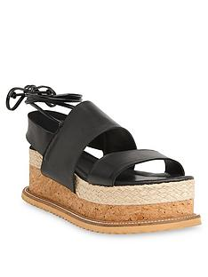 11b4cbeb8 WHISTLES Rae Leather Sandals - Black