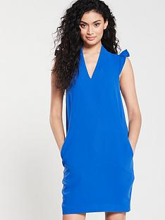 whistles-safia-crepe-dress-blue