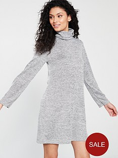 v-by-very-lightweight-knitted-roll-neck-dress-grey