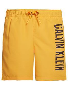 calvin-klein-boys-logo-swim-shorts-orange