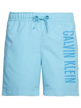 2f497d368b Calvin Klein Boys Logo Swim Shorts - Blue | littlewoodsireland.ie