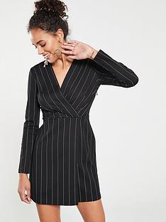 55d904426a71 Mango Stripe Dress - Black