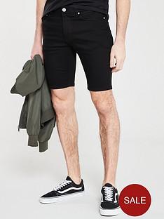 river-island-solid-black-skinny-shorts