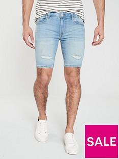 river-island-maui-light-wash-skinny-shorts