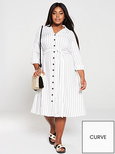 v-by-very-curve-stripe-shirt-dress