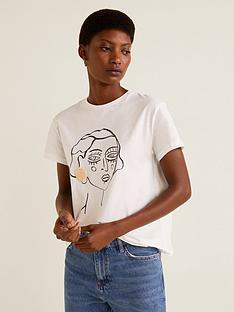 mango-earring-detail-t-shirt-white