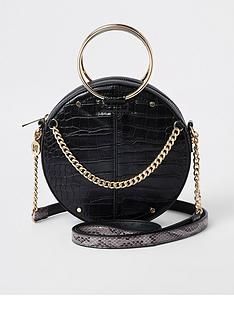 river-island-river-island-metal-handle-circle-bag-black
