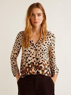8c82391f3d3a01 Mango Ombre Leopard Shirt - Animal Print