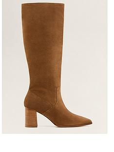 693f725fdb9 Mango Leather Calf Boots - Brown