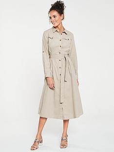 mango-cotton-shirt-dress-beige