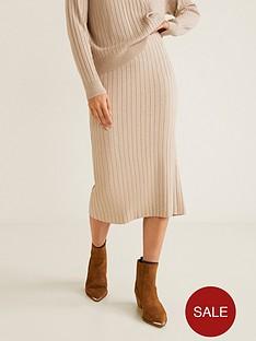 mango-ribbed-jersey-tube-skirt-light-grey