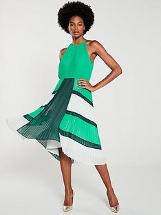 ted-baker-nellina-dip-hem-pleated-dress-bright-green