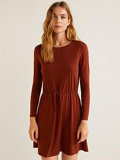 88f2bbd579c6 Mango Drawstring Waist Dress - Brown