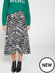 whistles-zebra-print-skirt-black-white