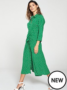 whistles-abstract-spot-selma-tie-dress-green