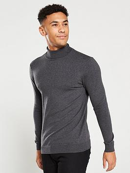 v-by-very-roll-neck-knitted-jumper-charcoal-marl