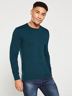 v-by-very-crew-neck-jumper-bottle-green