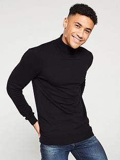 v-by-very-roll-neck-knitted-jumper-black