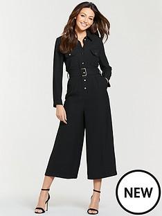 2e5630fbd2f Michelle Keegan Utility Casual Jumpsuit - Black