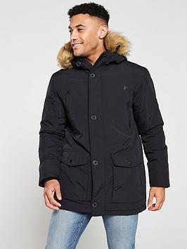 very-man-faux-fur-trim-parka-jacket-black