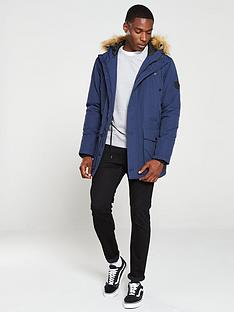 v-by-very-faux-fur-trim-parka-navy