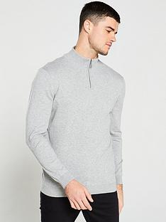 v-by-very-quarter-zip-neck-jumper-grey-marl
