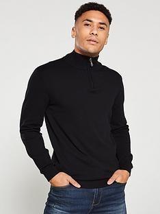 v-by-very-quarter-zip-neck-jumper-black