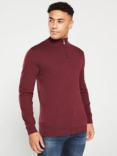 v-by-very-quarter-zip-neck-jumper-burgundy