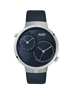 hugo-hugo-travel-blue-dual-time-dial-blue-leather-strap-mens-watch