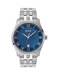 boss-boss-master-blue-textured-date-dial-stainless-steel-bracelet-mens-watch