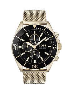 boss-ocean-edition-black-and-gold-detail-chronograph-dial-gold-mesh-stainless-steel-braceletnbspmens-watch