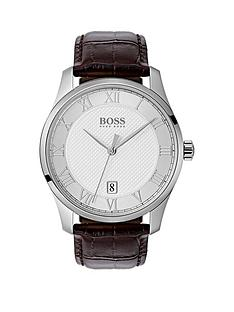boss-boss-master-silver-date-dial-brown-leather-strap-mens-watch