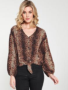 v-by-very-animal-print-blouse-printed