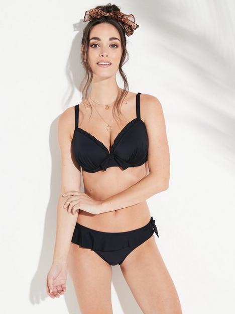 pour-moi-splash-frill-bikini-briefs-black